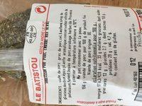 Saucisson pur porc enrobé aux herbes - Ingredients - fr