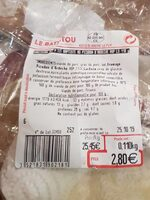 Saucisson sec P'tit Baptiste - Nutrition facts - fr