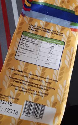 Farine blé t65 - Informations nutritionnelles - fr