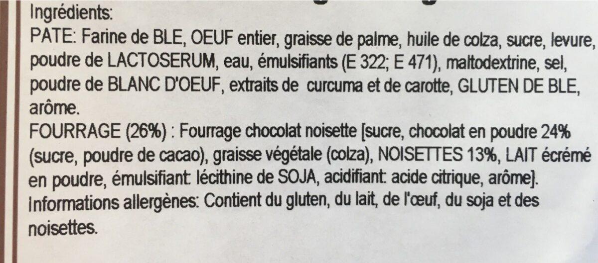 Beignets fourrés chocolat noisette - Ingrediënten