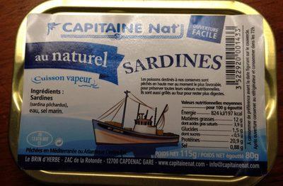 Sardines au Naturel - Produit