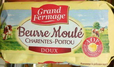 Beurre moulé doux Charentes-Poitou AOP (82 % MG) - Product
