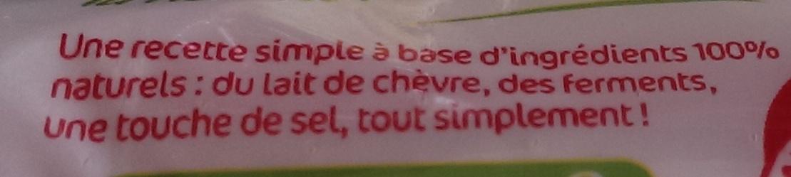 Fromage de chèvre Sainte maure (format familial) (23% MG) - Ingredients - fr