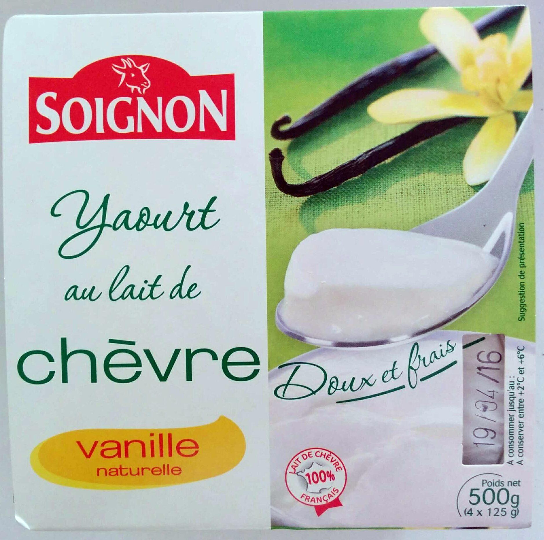 Yaourt au lait de chèvre - Vanille naturelle - Produit - fr