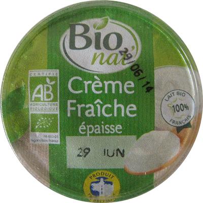 Crème fraîche épaisse 40 cl 30% de mat. gr. Bio nat' - Product - fr