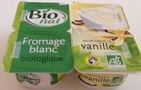 Fromage blanc biologique extrait naturel de vanille - Product - fr
