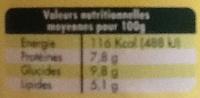 Fromage blanc biologique extrait naturel de vanille - Nutrition facts - fr
