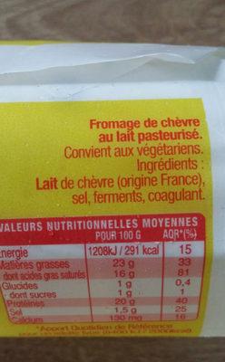 Sainte Maure - Ingrediënten - fr