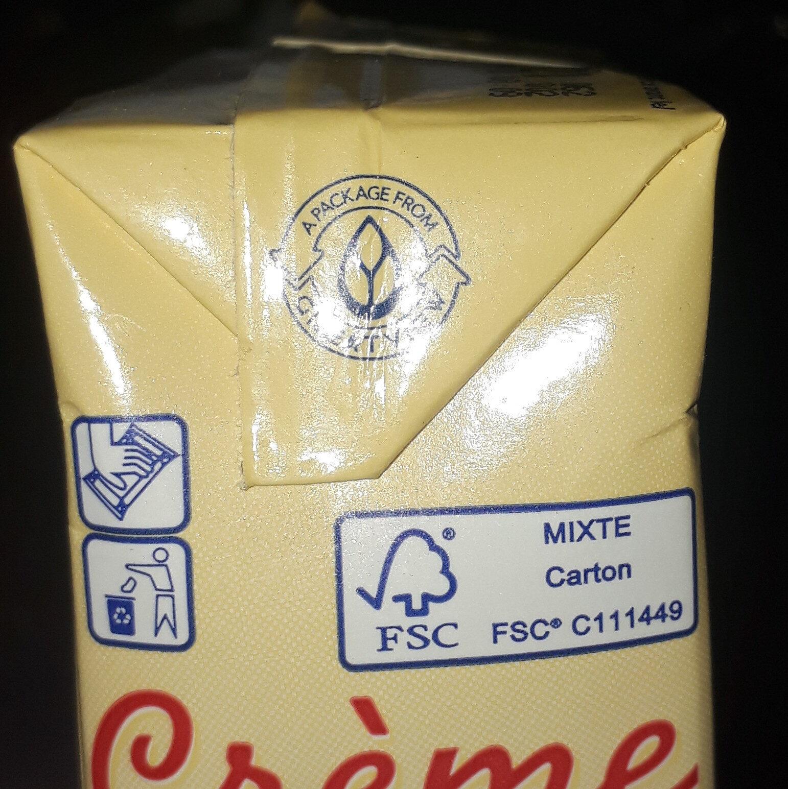 CREME UHT 30% - Istruzioni per il riciclaggio e/o informazioni sull'imballaggio - fr
