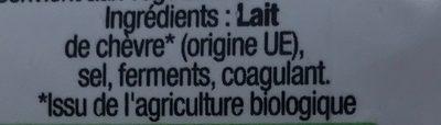 La bûche bio - Ingredients