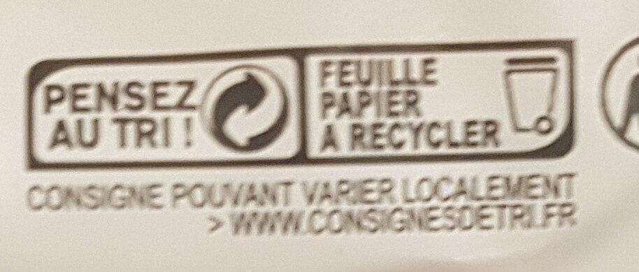 La bûche bio - Fromage de chèvre - Istruzioni per il riciclaggio e/o informazioni sull'imballaggio - fr