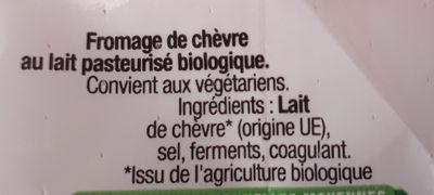 La Bûche Bio - Ingredients - fr
