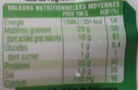 La Bûche Bio - Nutrition facts - fr