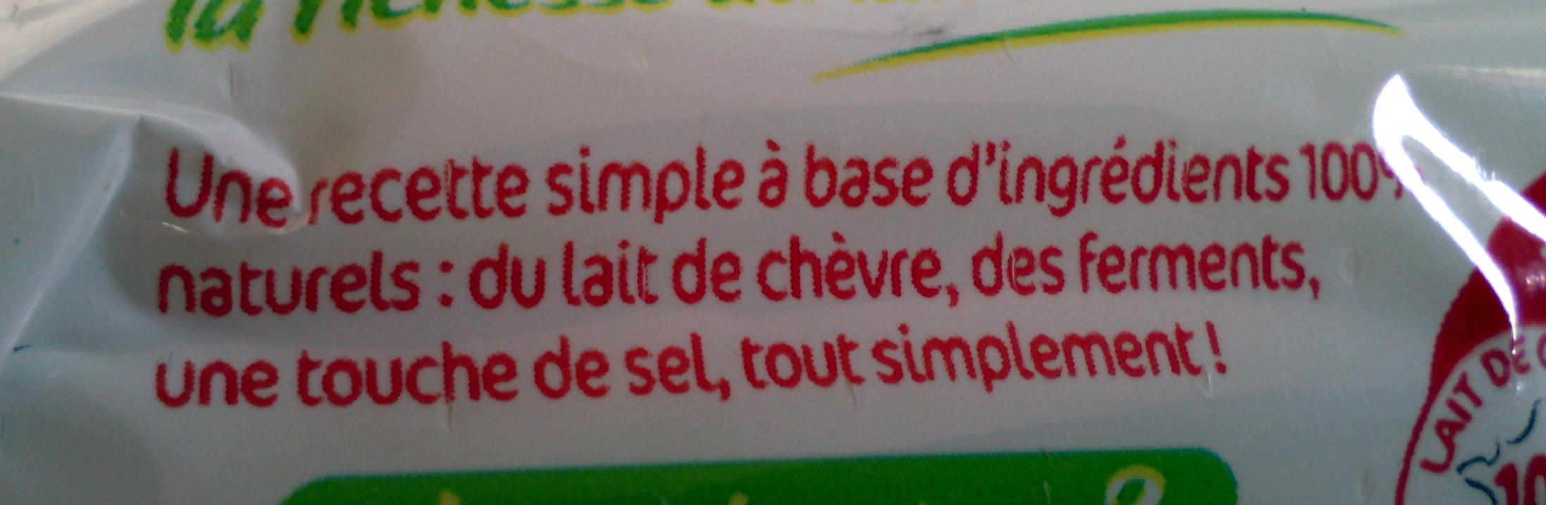 Bûche de chèvre Maxi format - Ingrediënten