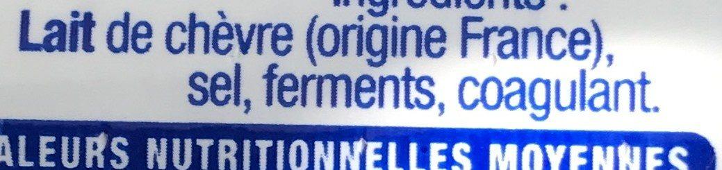La bûche réduite en sel réduit de -25% - Ingrediënten - fr