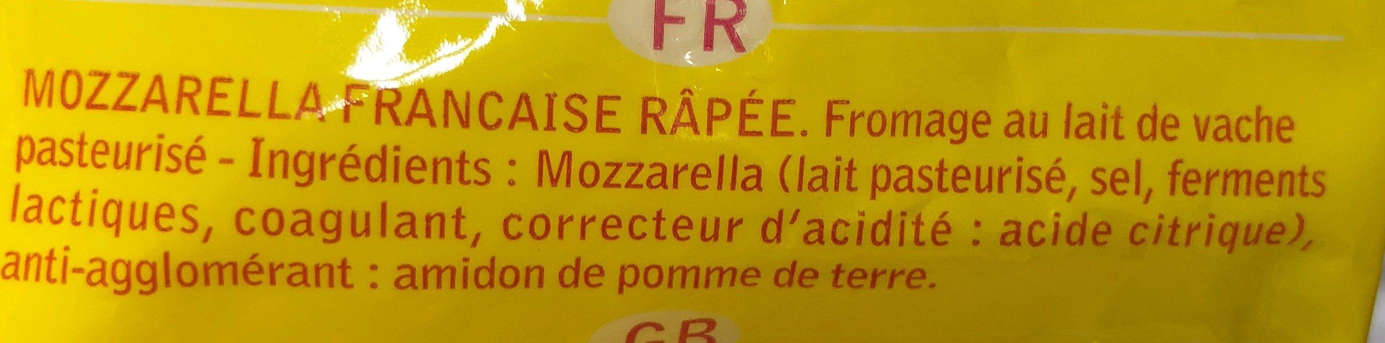 Mozzarella - Ingrediënten