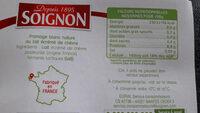 Fromage Blanc au Lait de Chèvre Nature 0% MG - Ingrédients - fr