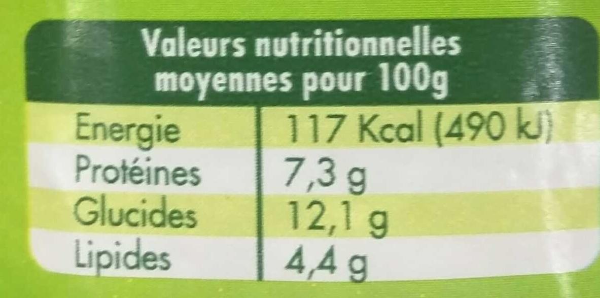 Fromage blanc Biologique Myrtilles - Nutrition facts - fr