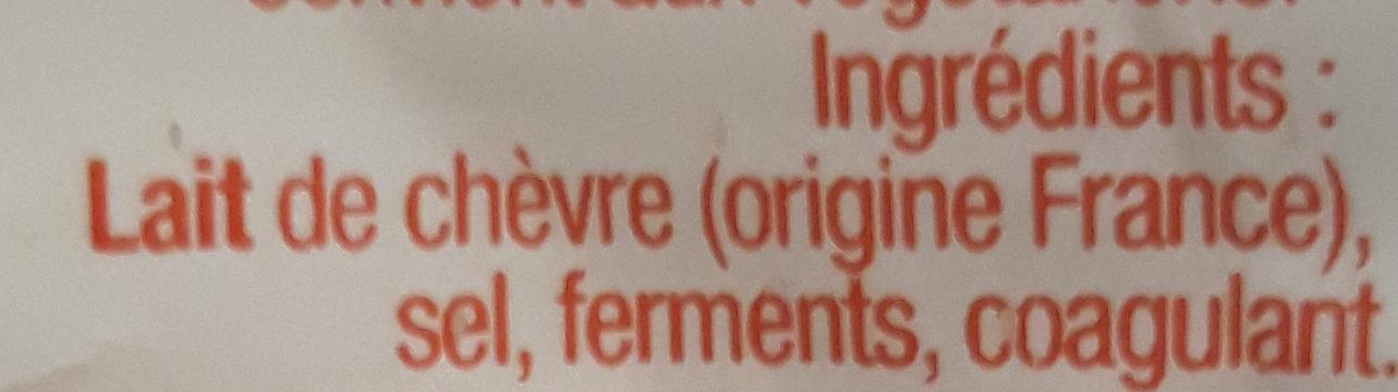 Fromage de chevre - Ingredients