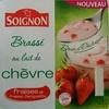 Brassé au lait de chèvre fraises et fraises Gariguette - Product