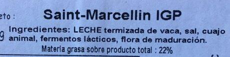 Saint marcellin - Ingredientes