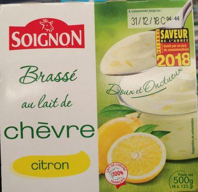 Brassé au lait de chèvre citron - Produit - fr