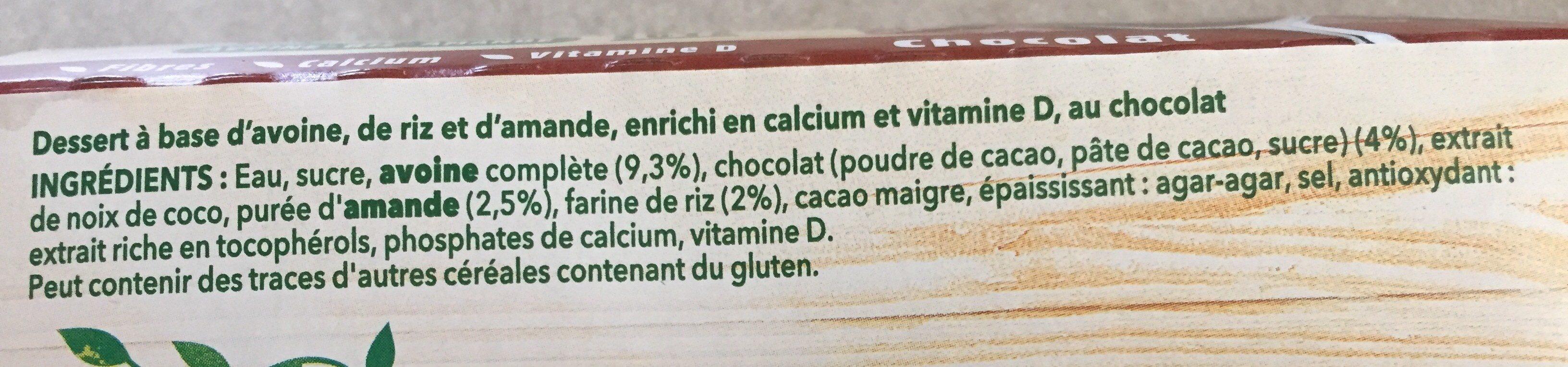 A Bicyclette - Chocolat - Ingredients - fr