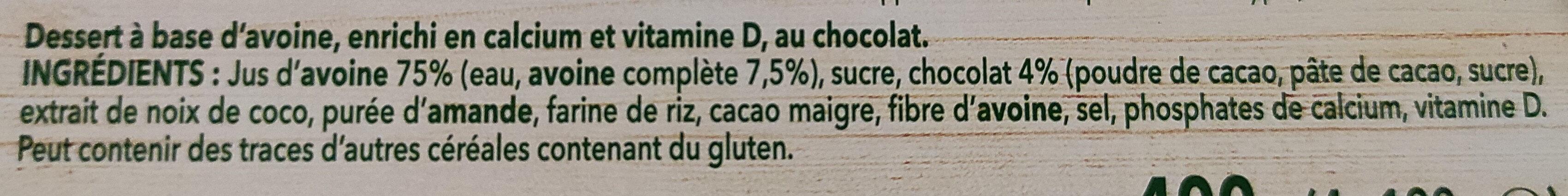 A Bicyclette - Chocolat - Ingredienti - fr