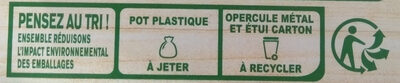 Dessert végétal chocolat à l'avoine - Recyclinginstructies en / of verpakkingsinformatie - fr