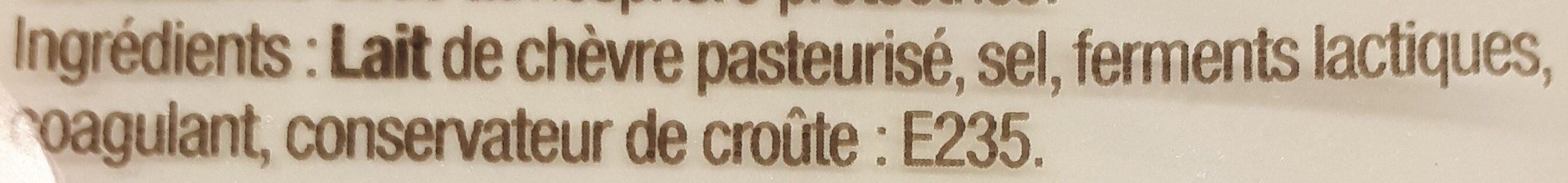 La meule de chèvre - Ingrédients - fr
