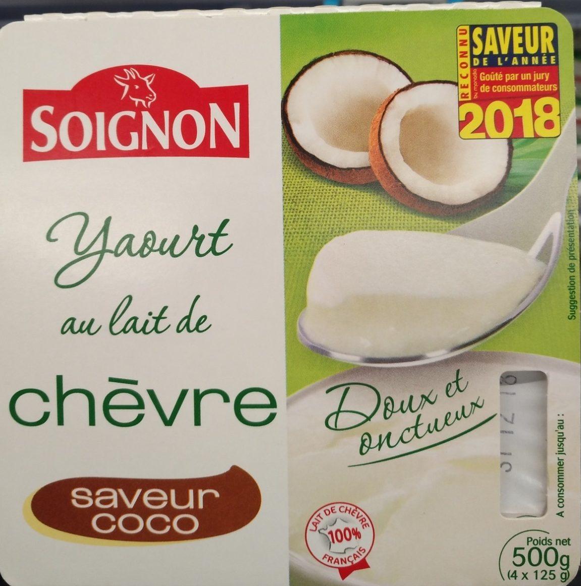 Yaourt au lait de chèvre saveur coco - Product