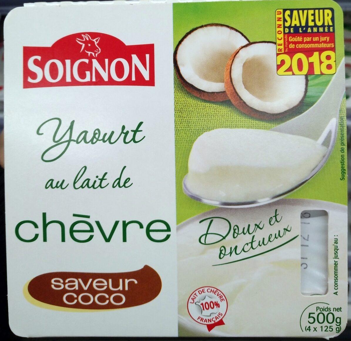 Yaourt au lait de chèvre saveur coco - Product - fr