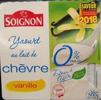 Yaourt au lait de chèvre vanille (0 % MG) - Product - fr