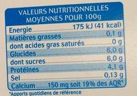 Yaourt au lait de chèvre vanille (0 % MG) - Nutrition facts - fr