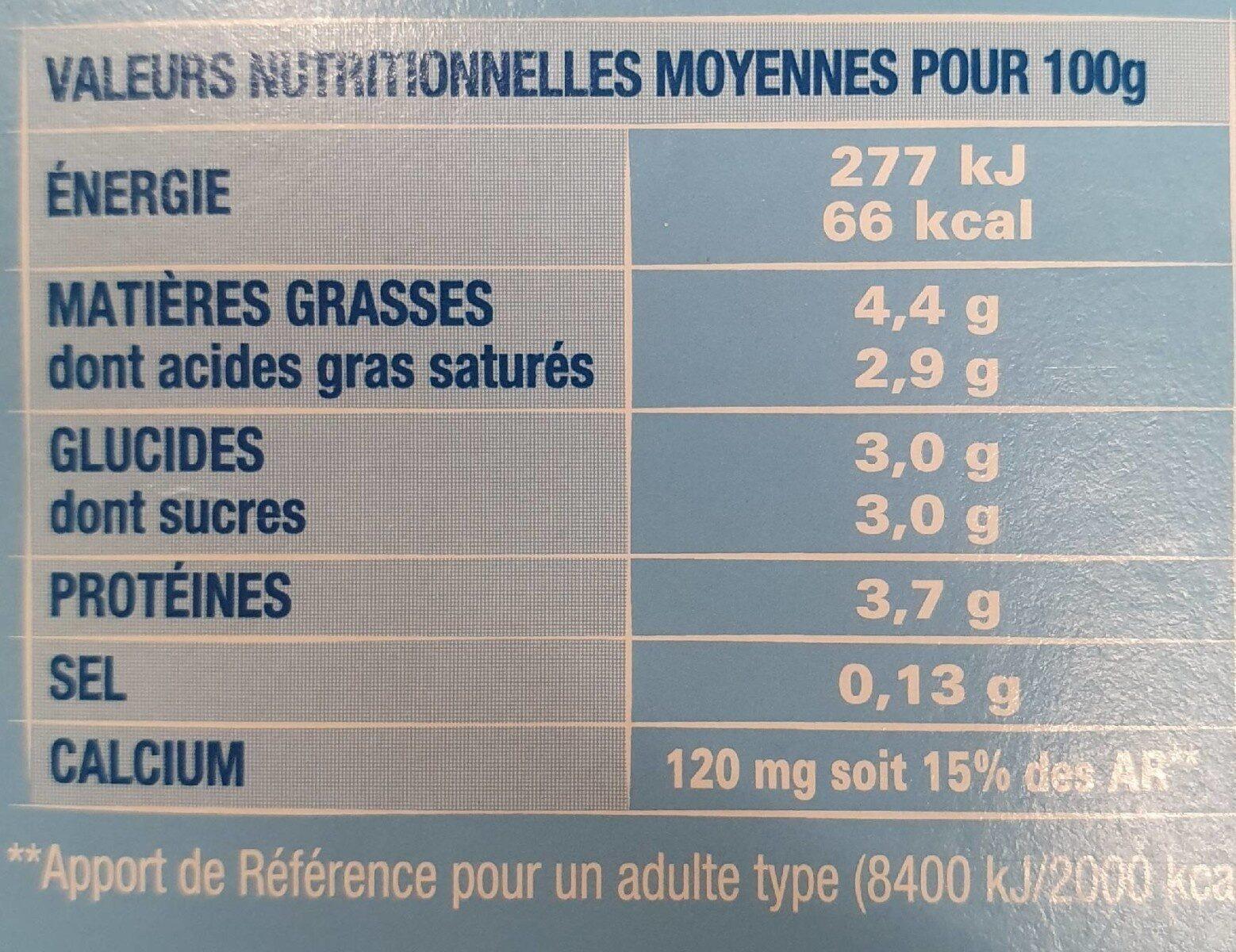 Notre yaourt nature - Informations nutritionnelles - fr
