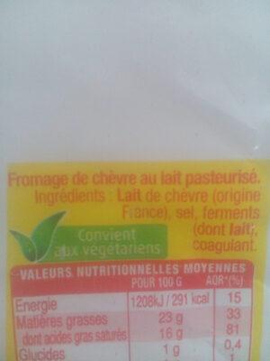 Fromage de chèvre - Ingrediënten