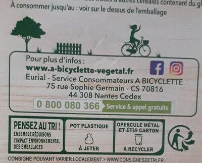 Dessert végétal noisette à l'avoine 4x100g - Instruction de recyclage et/ou informations d'emballage - fr