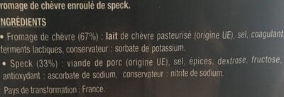 Mini Involtini Chèvre - Ingrediënten - fr