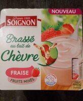 Brassé au lait de chèvre fraise fruits mixés - Produit