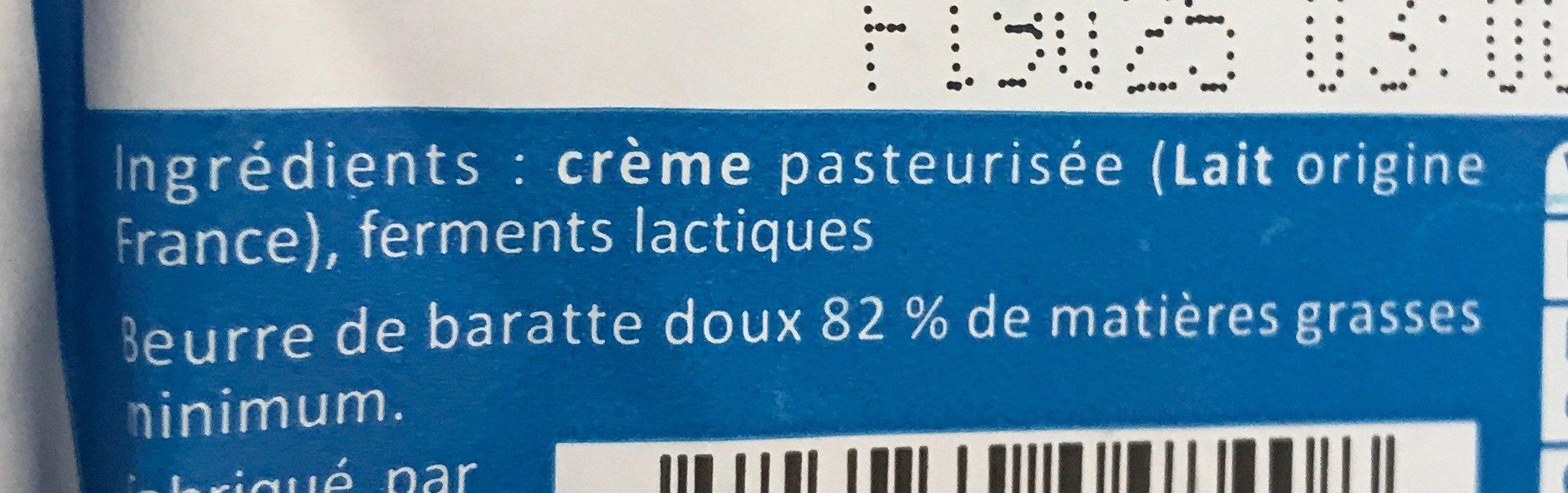 Beurre de Baratte Bleu-Blanc-Coeur - Ingredients - fr