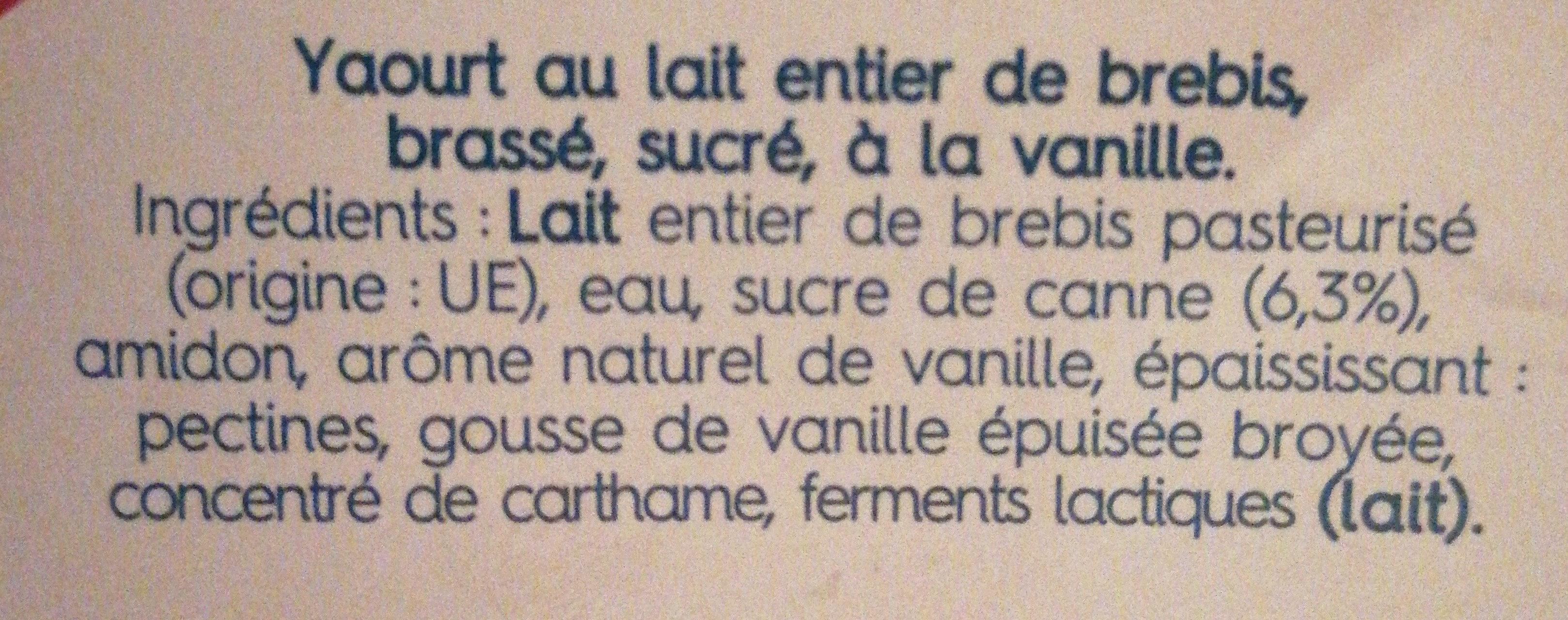 brasse au lait de brebis - Ingredients - fr