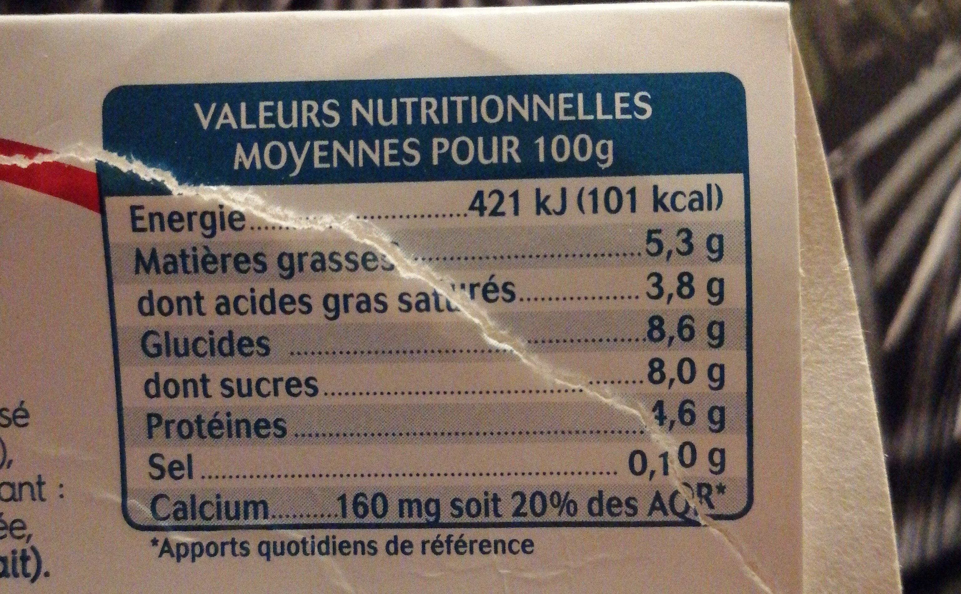 brasse au lait de brebis - Nutrition facts - fr