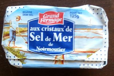beurre demi sel aux cristaux de sel de mer de noirmoutier grand fermage 125 g