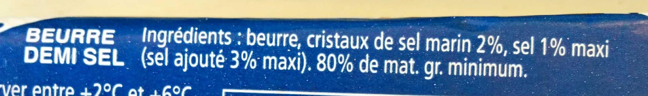 Beurre au Sel de mer de noirmoutier - Ingrediënten