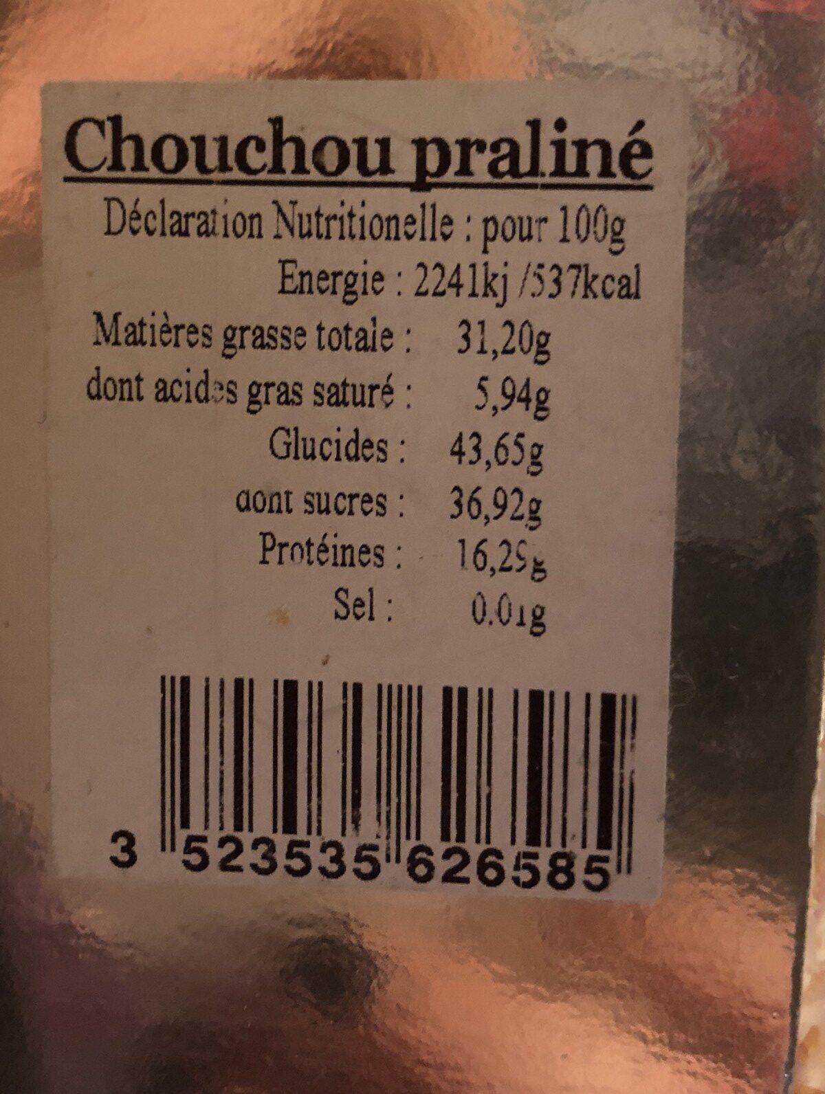 chouchou praliné - Ingrediënten - fr