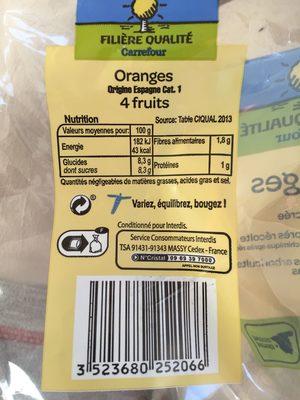 Oranges à Dessert non Traitées - Product