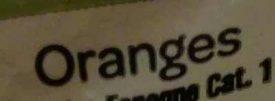 Oranges à Dessert non Traitées - Ingrediënten