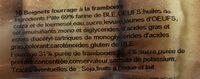 Beignets framboise X 10 - Ingrédients - fr