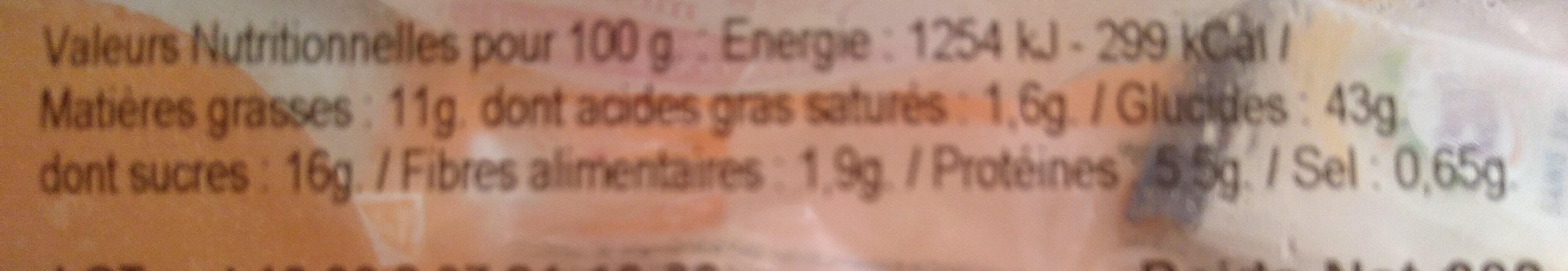 Beignets framboise X 10 - Informations nutritionnelles - fr