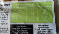 Pain campagnard sans gluten - Informations nutritionnelles - fr